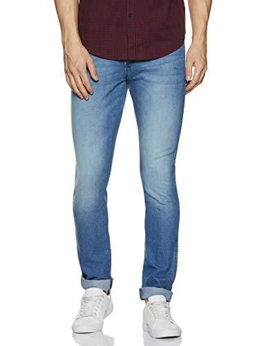 Wrangler Men's Skinny Fit Jeans (W38445W22SMU_Jsw-Dark Stone_36W x 33L)