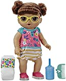 Baby Alive Step N Giggle Baby Brown Hair Doll with Light-Up Shoes, Responds with 25+ Sounds & Phrases, Drinks & Wets, Toy for Kids Ages 3 Years Old & Up