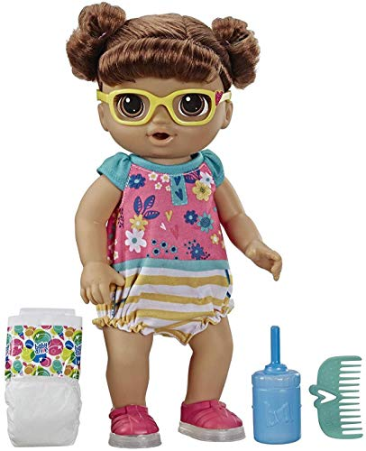 Baby Alive Step 'N Giggle Baby Brown Hair Doll with Light-Up Shoes, Responds with 25+ Sounds &...