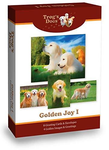 Golden Retriever Greeting Cards: Golden Joy I