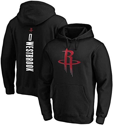 XSJY Sudadera con Capucha De Baloncesto De Los Hombres - NBA Houston Rockets # 0 Westbrook Jersey Cómoda Casual Entrenamiento De Baloncesto Sudadera Sudadera (S-3XL),Negro,XXL:180~190cm