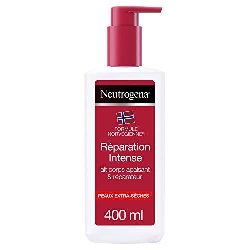 Neutrogena Réparation Intense, Lait Hydratant Corps, Pour Peaux Extra Sèches – 1 flacon pompe de 400ml