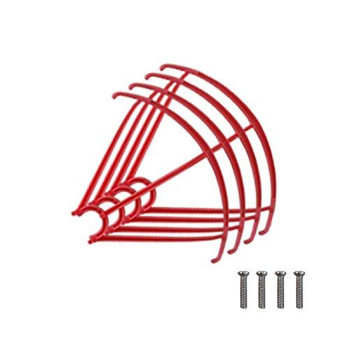 HOUSE CLOUD Reemplazo para Drone Syma X5HC X5HW X5SC X5SW (Protect hélices Rojo)
