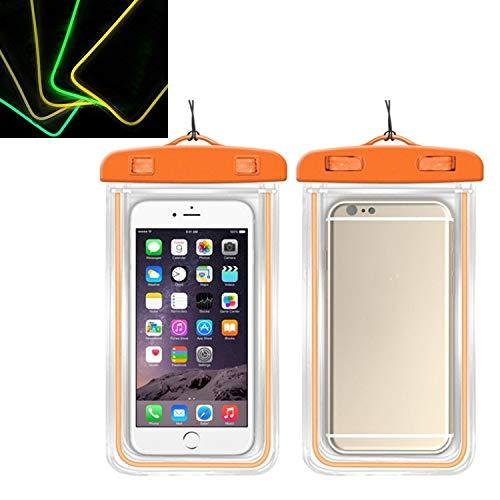 LICHONGGUIEU 5 PCS TPU fluorescente luminosa pantalla táctil impermeable bolso del teléfono móvil Conveniente for los teléfonos móviles Menores de 6 pulgadas Los accesorios del teléfono cubierta de la