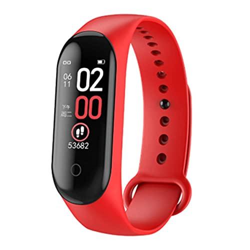 Libartly M4 Smartwatch Pulsera Inteligente Monitor De Frecuencia Cardíaca para Monitoreo De Salud Pantalla A Color Pulsera Deportiva Impermeable - Cable Rojo De Carga