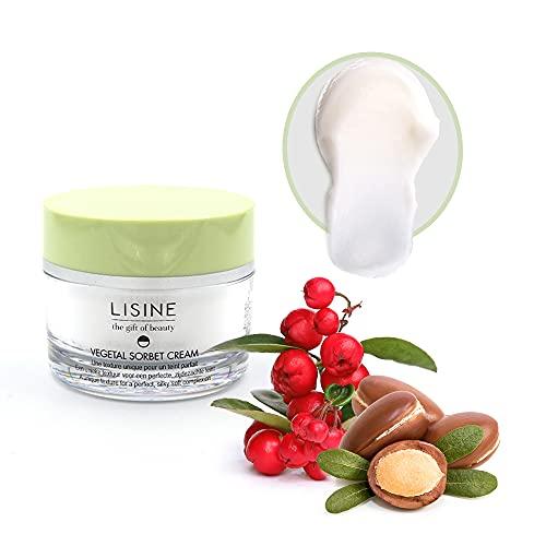 Lisine Soin Détox Végétal 50 ml, soin gel-crème visage hydratant, primer pour un teint parfait, texture sorbet, effet blur et anti âge, à l'extrait de la gaulthérie. Pour tous types de peau.