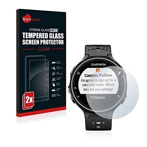 savvies Protector Cristal Templado Compatible con Garmin Forerunner 230 (2 Unidades) Protector...