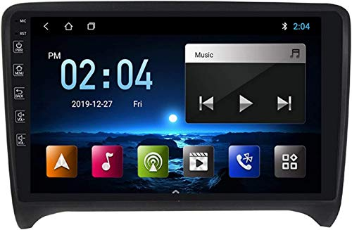 Estéreo para automóvil Doble Din Android Navegación para automóvil GPS Compatible con Audi TT MK2 2006-2014 Plug and Play Enlace espejo teléfono móvil con soporte USB dual Control del volante Enlace