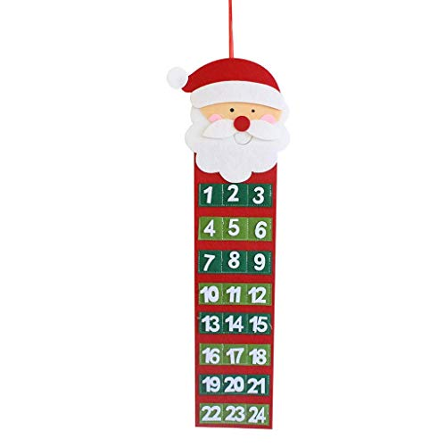 Amphia - Weihnachten Adventskalender & Taschen Filz Kinder Wandbehang Countdown Dekore