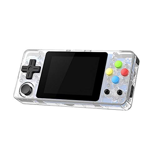 Game Console Player,Handheld Game Device Open Source System 2 Generation PSP Mini Palm Arcade Game PS1 GBA SFC Game Console Games Lemon Yellow Transparent Black Transparent White