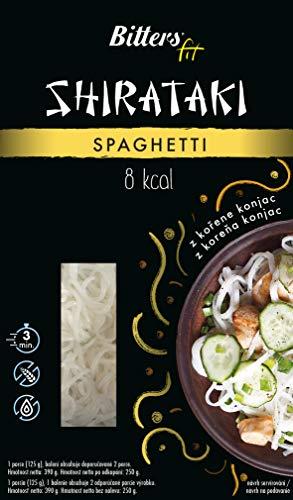 Bitters Shirataki Fit Pasta, fideos de forma Espagueti, sin