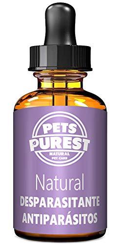 Pets Purest Desparasitante antiparasitario 100% natural para