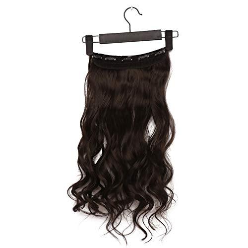 Weisin Perruques de Cheveux Longs élégants Perruque de fête Quotidienne Filet de Perruque réglable pour Les Femmes Naturelles comme de Vrais Cheveux,Noir Naturel (Volume)