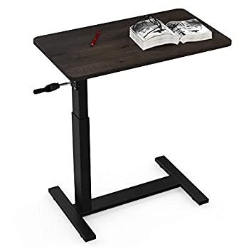 Overbed Table with Wheels Balee Hospital Bed Table by Crank Height Adjustable Over The Bed Table Rolling Cart Laptop Desk Medical Overbed Tables Multi-Purpose Portable Tables  Upgraded Table