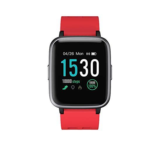 SEXWOMEN Pulsera Inteligente Pulsera Deportiva Pedómetro Inteligente Reloj Inteligente (Color : Red)