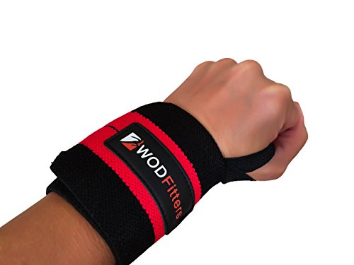 WODFitters Wrist Wraps - Increase Your Wrist Strength and Avoid Injury during Weightlifting, Cross Fitness Training, Powerlifting, Bodybuilding with These Sports Wristbands