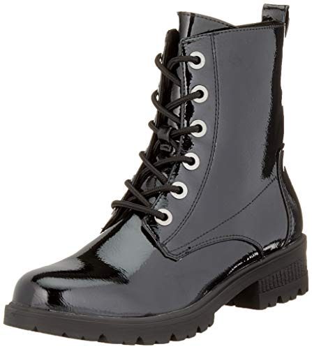 Tamaris Damen 1-1-25280-23 Combat Boots, Schwarz (Black Patent 18), 39 EU