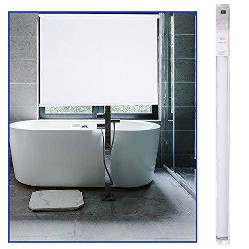 RESTAR Estor Enrollable 80% Blackout para Ventanas y Puertas,protección Visual (Blanco, 60x200 cm)
