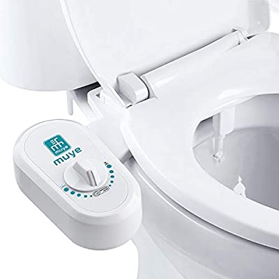 MUYE Non-Electric Bidet Toilet Seat Attachment Self Cleaning Nozzle Fresh Water Bidet Sprayer for Toilet Adjustable Water Pressure
