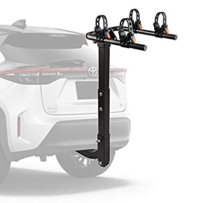 """ZESUPER 2-Bike Hitch Mount Bike Rack Bicycle Carrier Racks for Cars, Trucks, SUV's and minivans with a 2"""" Hitch Receiver"""