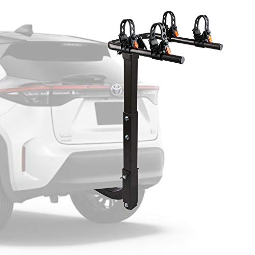 "ZESUPER 2-Bike Hitch Mount Bike Rack Bicycle Carrier Racks for Cars, Trucks, SUV's and minivans with a 2"" Hitch Receiver"