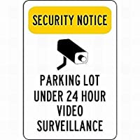 165新しいブリキの看板セキュリティ通知ビデオ監視看板の下の駐車場壁の装飾のためのアルミニウム金属看板8x12インチ