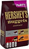 Contains one (1) 31.5-ounce bag of assorted HERSHEY'S NUGGETS Candies, including HERSHEY'S SPECIAL DARK Mildly Sweet Chocolate with Almonds, Milk Chocolate, Milk Chocolate with Almonds and Extra Creamy Milk Chocolate with Almonds and Toffee Fill your...