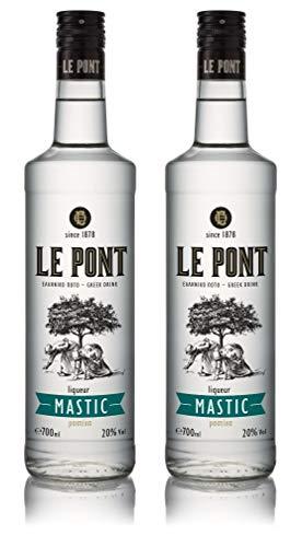 Premium Mastiha Likör | griechischer Likoer | Mastika | Masticha Chios | mild | Spirituose | Geschenk | 700ml Glas Flasche (2x 700ml)