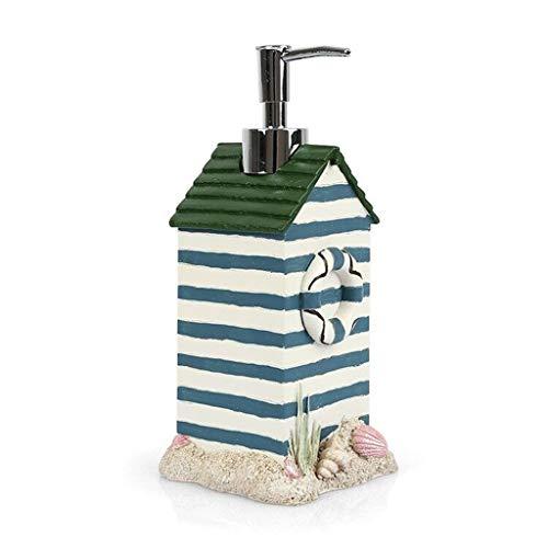 LYUN Dispensador JabóN Encimera dispensador de jabón Fresca pequeña Diseño en Forma de Botella con Bomba Océano perfumado Ducha, for cocinas y baños, 15,2 oz dispensador de jabón