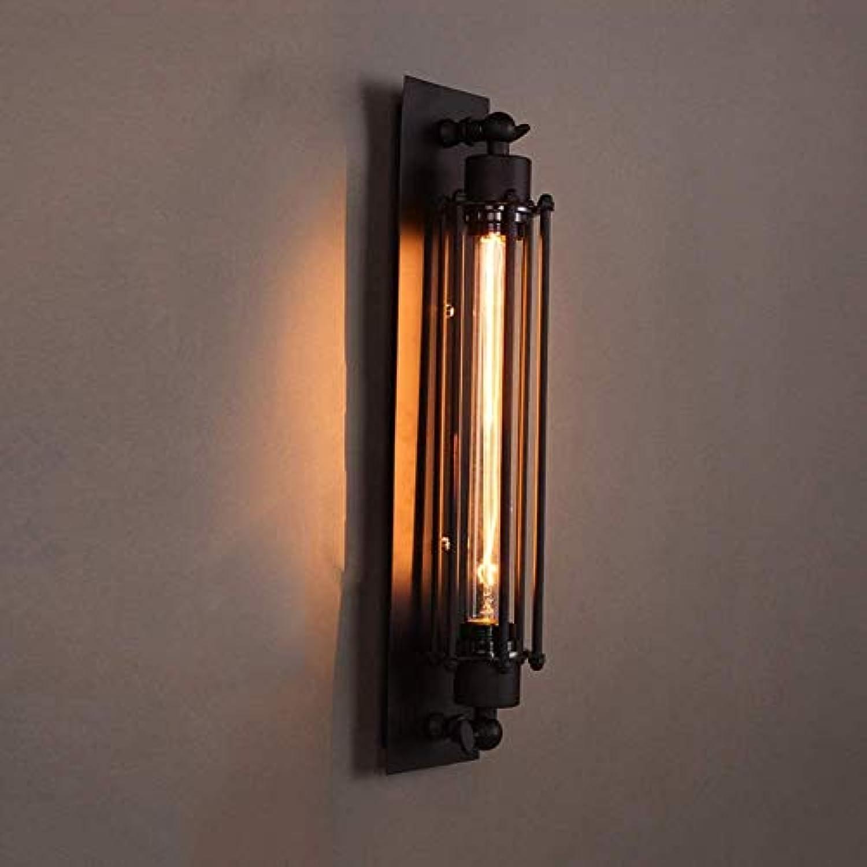 QYRL Wandleuchte, Retro schwarz Flute Wandkerzenhalter 17,7 Hhe Industrial Style Lampe Metall Eisen Art Deco für Korridor Balkon Galerie