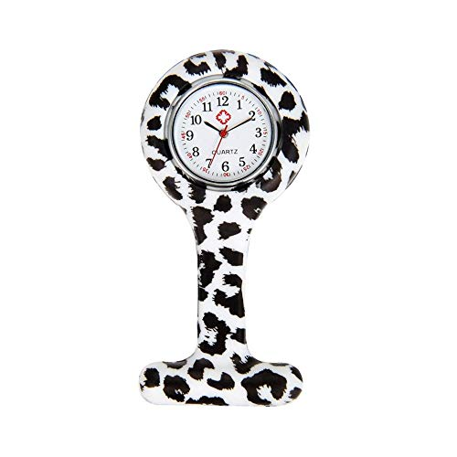 Avaner Silicone Nurse Watch, Vintage Floral Square Lapel Watch, Pin-on Brooch Fob Watch, Analog Quartz Hanging Pocket Watch