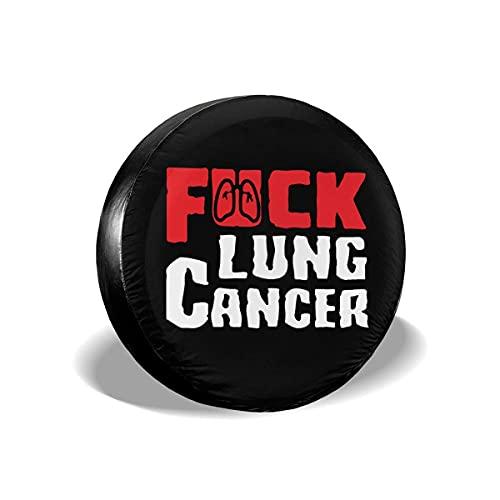 Cubierta DE LA Rueda A la Mierda el cáncer de pulmón Funda para Neumáticos Cubierta para Rueda de Repuesto Protección Bolsa de Almacenamiento