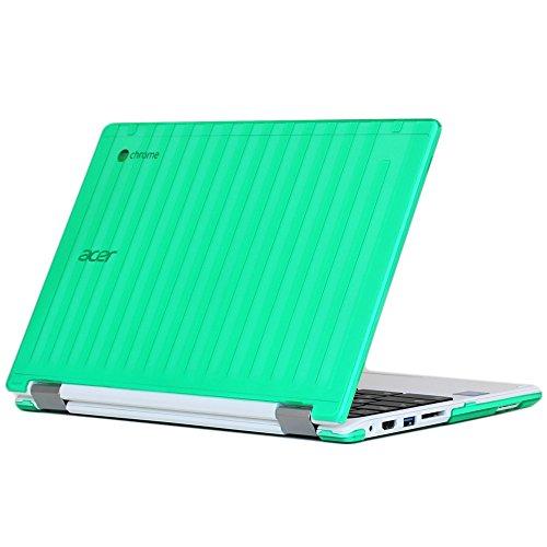 """MCover - Carcasa rígida para Acer Chromebook R11 CB5-132T y C738T de 11,6"""", no Compatible con Acer C720/C730/C740/CB3-111/CB3-131 Series, Color Verde"""