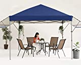 MASTERCANOPY 10x10 Pop-up Gazebo Canopy Tent with Double Awnings Navy Blue