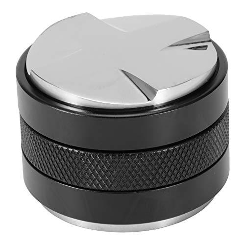 Distribuidor de café de 53 mm,doble cabezal de altura ajustable, acero inoxidable,manipuladores de mano expreso,nivelador de café,se adapta a la herramienta de apisonamiento de polvo para portafiltro
