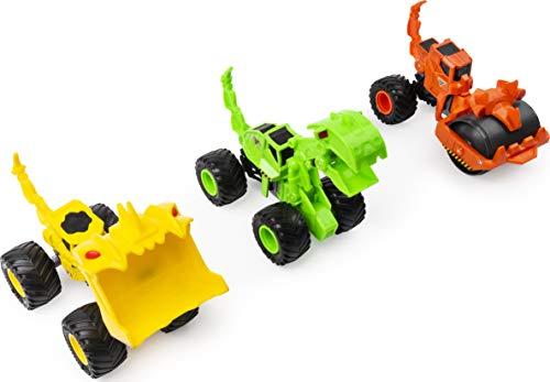 Monster Jam, oficial Dirt Squad, pacote com 3 caminhões Monster com peças em movimento, escala 1:64, veículos fundidos