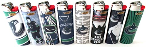 BIC NHL Vancouver Canucks Full Size Lighters Lot of 8