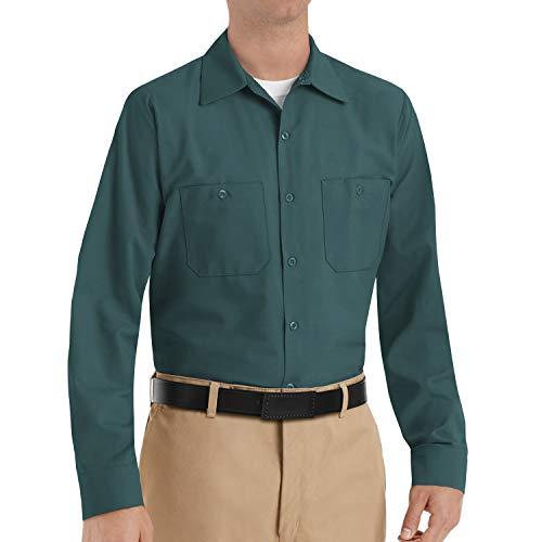 Red Kap Herren Industrial Shirt, Short Sleeve Work Utility Hemd, Fichtengrün, XX-Large