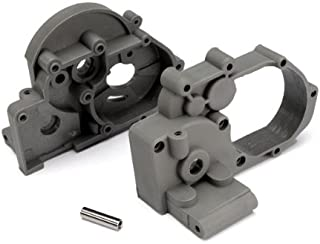 Traxxas 3691A Left and Right Gearbox halves (grey) with Idler Shaft
