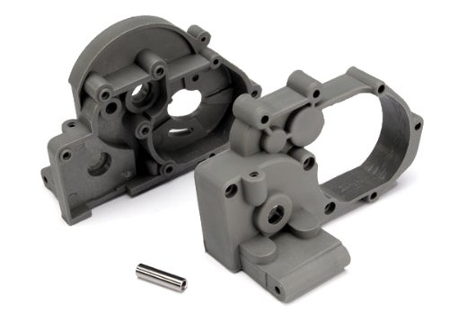 Price comparison product image Traxxas 3691A Left and Right Gearbox halves (grey) with Idler Shaft