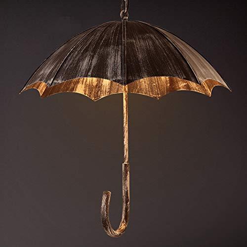 Lámpara colgante E27 de 5 focos, vintage, retro, paraguas, diseño de paraguas, para comedor, sala de estar, lámpara colgante industrial, para dormitorio, restaurante, iluminación