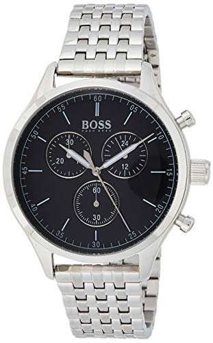 Hugo Boss Herren Chronograph Quarz Uhr mit Edelstahl Armband 1513652