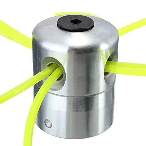 Haloku Aleación Aluminio Desbrozadora Cesped, Cabeza con 4 Lineas Desbrozadora Cabezal para Cortacésped Accesorios