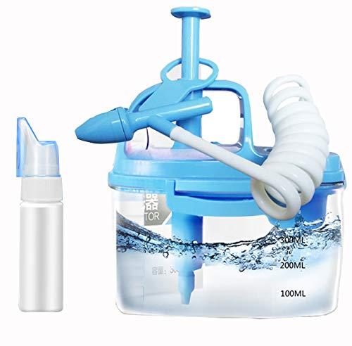 CANDYANA Manuelle Nasenreinigungsmaschine Nasenspülung Nichtelektrische Nasenspülmaschine Rhinitis Nasenspülgerät,Blue