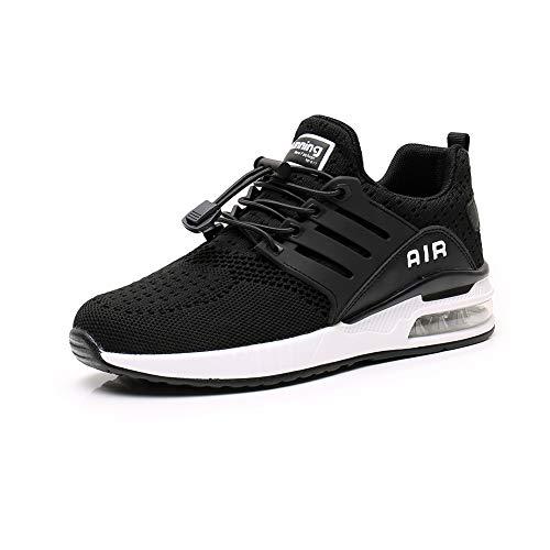 Basket Homme Femme Chaussures de Course Running Sport Leger Respirant Trail Gym Fitness Sneaker Black 45