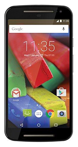 Motorola Moto G 4G (2 Generazione) Smartphone, Display 5 Pollici, LTE, Fotocamera 8 MP, Memoria 8 GB, Android 5 Lollipop, Nero [Regno Unito]