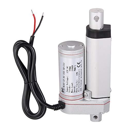 AUTOUTLET Actuador lineal DC 12V 1500N Motor de actuador lineal para el abrepuertas eléctrico del auto RV del coche