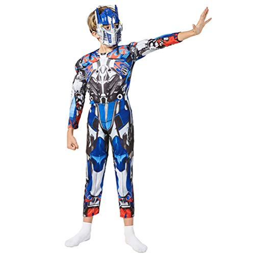 GYMAN Traje Nio Transformers Optimus Prime Fancy Dress 3D, Halloween Carnaval Cosplay Body, para La Pelcula Unisex Kids Party Complementos Disfraz Onesies De Vestuario,L