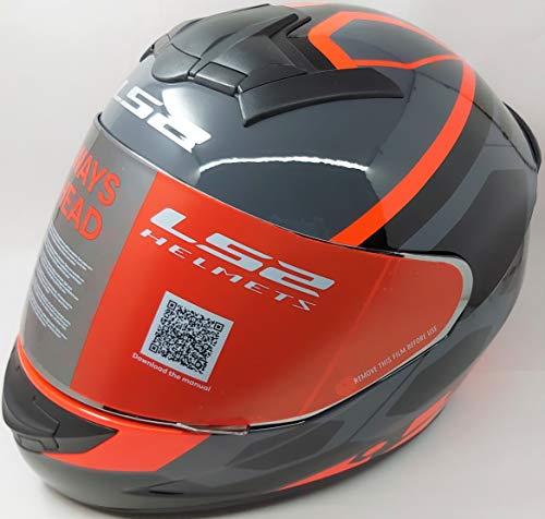 LS2 Helmets - FF352 Rookie - Mein - Gloss Black Orange - Single Mercury Visor Full Face Helmet - (X-Large - 590 MM)