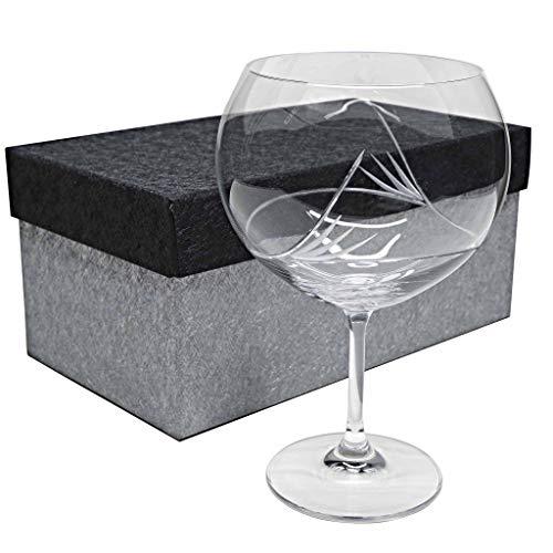 la galaica | Set de 1 Copas de Cristal para Gintonic - Tallada a Mano - Colección Gin Tonic | Regalos Ideales para Bodas, Aniversarios y Cumpleaños | Regalos Originales